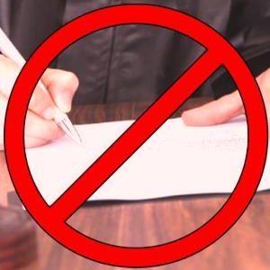 Знак стоп судебному решению