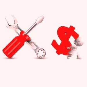 Отвертка, гаечный ключ, доллар